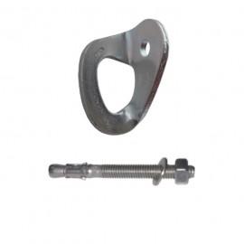 Vertical kit placchetta e tassello Ø10 mm x 90 mm acciaio zincato