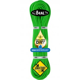 Beal Gully 7.3 mm Unicore Golden Dry mezza Corda arrampicata 60m